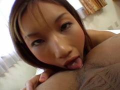 Maria Fujisawa licks butt and sucks tool