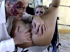 Sexy Blonde Nurse Enjoy Box Spreading