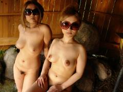 Two hot Japanese chicks service one fat pecker