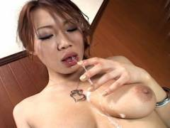 Misaki Asou best sloppy and messy sucking!