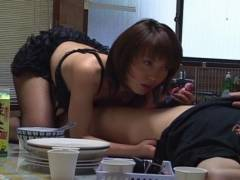 Sexy Mira Sugihara kitchen head