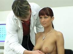 Busty Babe Clinic Breast Exams