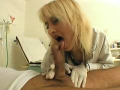 Blonde Doctor Swallow Meat