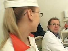 Naughty Nurse Gets Laid