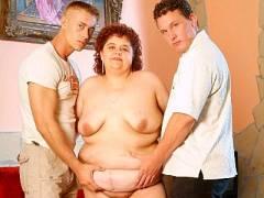 Horny BBW Threesome Sex