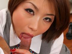 Sexy office slut Tsubaki will blow your mind