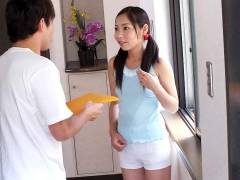 Home alone Lulu Kinouchi is fucked big time