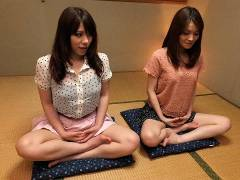 Anna Kirishima and Kana Suzuki pokeed at yoga